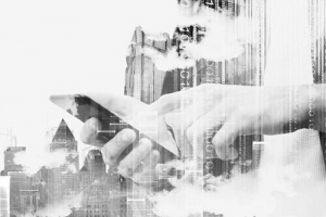 Digital-Workplace-BI-Hände-mobile-device-digital-remote-work